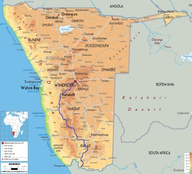 Namibia-physical-map
